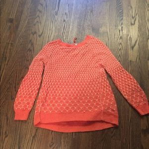 Anthropologie Moth orange sweater